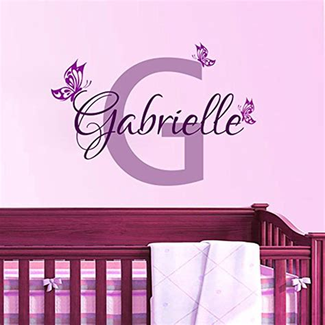 name stickers for wall personalized butterfly name vinyl wall decal home