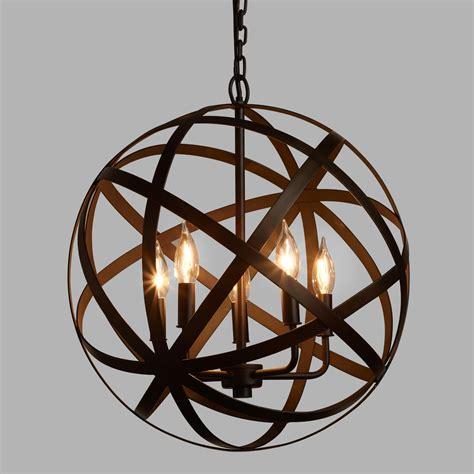 metal chandeliers metal orb chandelier world market
