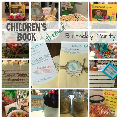 picture books with theme children s book themed birthday refresh living