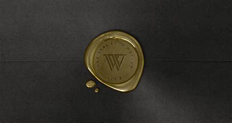 wax seal logo mock up template vol2 psd mock up