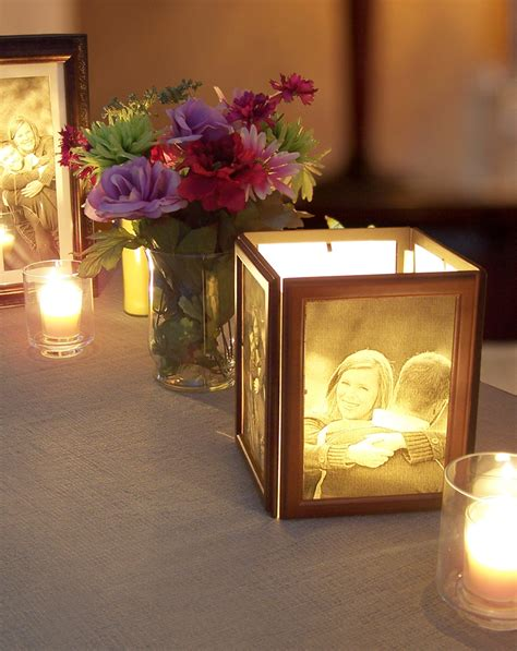 picture frame centerpiece how to make photo centerpieces with candles