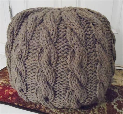 knitted ottoman pouf pattern knitted pouf patterns on craftsy