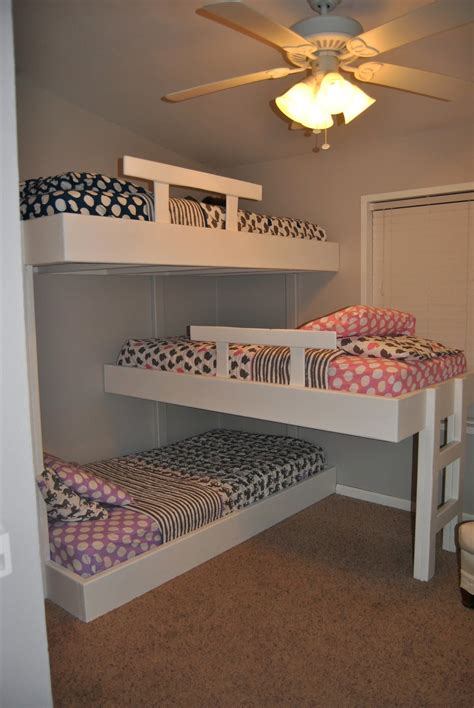 three way bunk bed with mack macy molly bunk beds