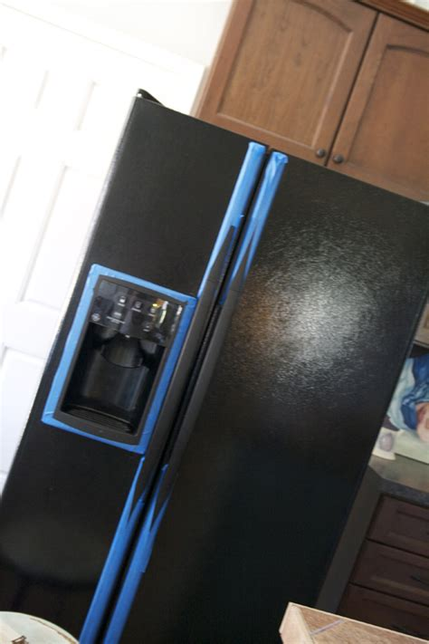 diy chalkboard rubber diy painting your fridge with chalkboard paint the