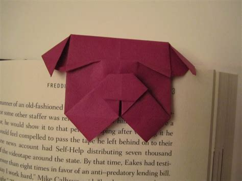 origami bookmark bulldog bookmark flotsam and origami jetsam