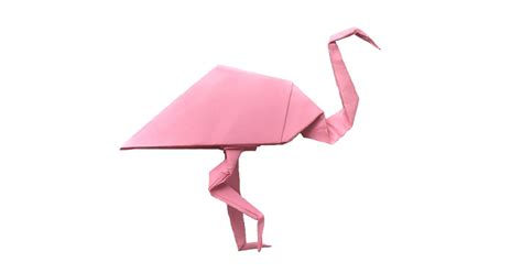 origami flamingo pretty in pink an origami flamingo origami expressions