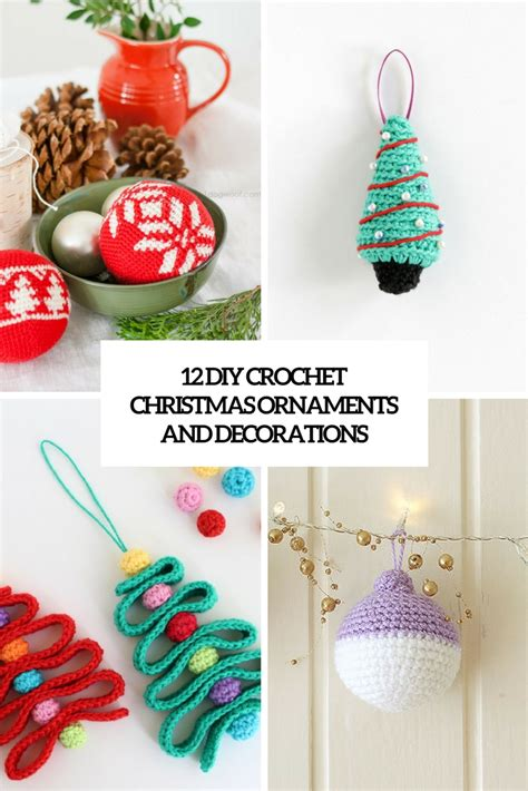 crochet patterns decorations 12 diy crochet ornaments and decorations