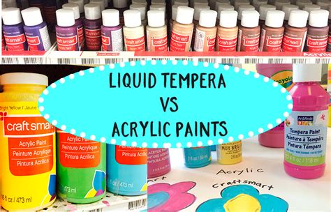 Tempera Vs Acrylic Paint Space Sparkle