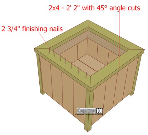 pallet planter box plans diy planter box build pallet planter boxes decorationy