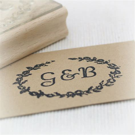 Personalised Initials Rubber St By Beautiful Day