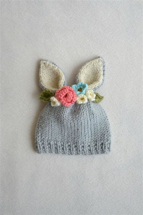 how to knit flowers for baby hat 17 best ideas about crochet bunny on