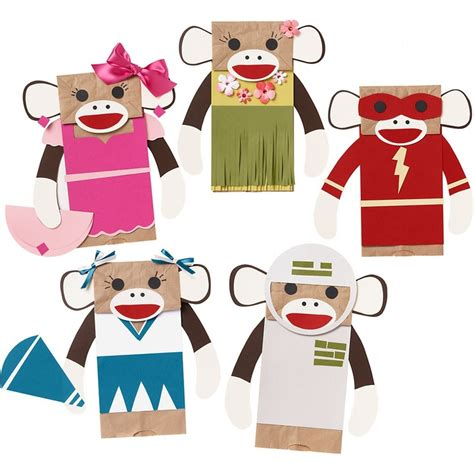 paper bag monkey craft monkey puppets puppets