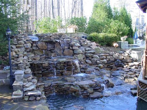 backyard pond ideas with waterfall pond backyard blessings