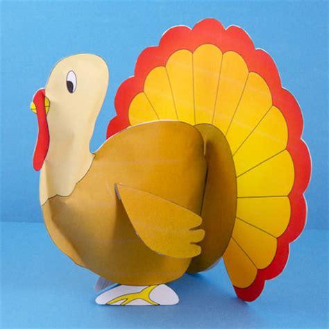 paper turkey craft how to make stuffed paper turkeys 3d paper crafts