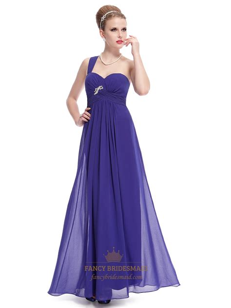 beaded chiffon bridesmaid dresses royal blue one shoulder chiffon bridesmaid dress with