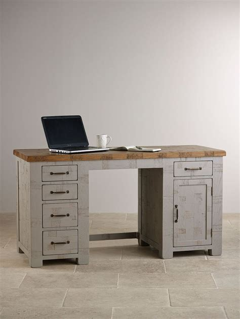 painted computer desk clermont painted sawn solid oak computer desk