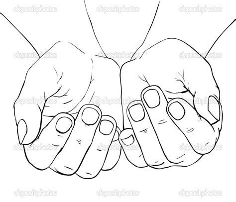 11 cupped hand vector art images cupped hands clip art