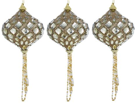 jeweled ornaments gold jeweled beaded faceted