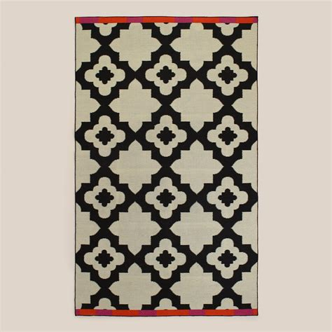 outdoor rugs world market pink orange bordered flat woven indoor outdoor rugs