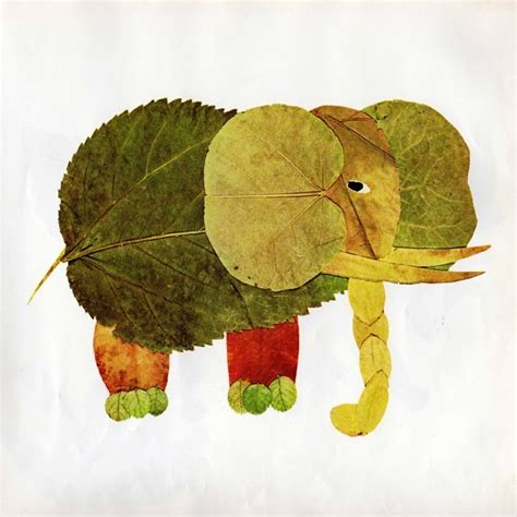 leaf crafts projects leaf animals craft gift ideas