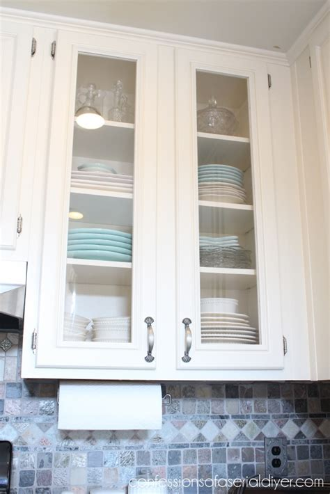 glass door cabinet kitchen how to add glass to cabinet doors confessions of a