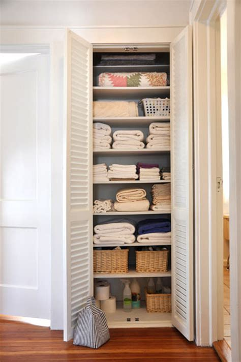 beautifully organized linen closets apartment therapy