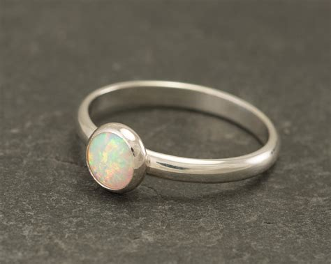 Opel Rings by Opal Ring Silver Opal Ring Solitaire Ring Opal