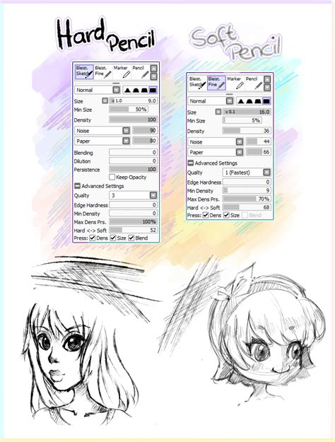 paint tool sai 2 deviantart 2 pencil brushes paint tool sai by ichigoarts on deviantart