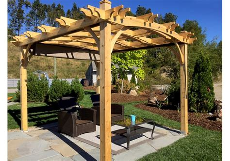 10 x12 arched pergola with retractable canopy outdoor living today