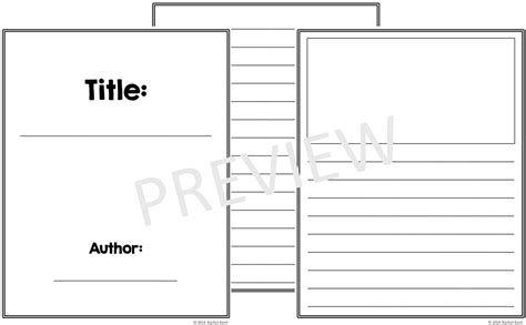 picture book templates free book template printables k tutoring