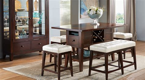 dining room counter height sets julian place chocolate vanilla 5 pc counter height dining