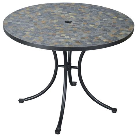 patio furniture table harbor slate tile top outdoor table 224986 patio