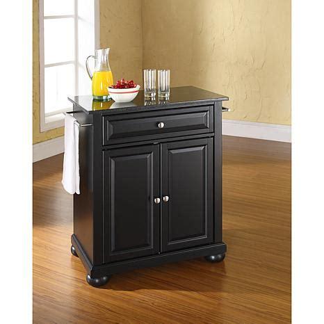 kitchen island with granite top crosley alexandria solid black granite top portable kitchen island black 7743748 hsn