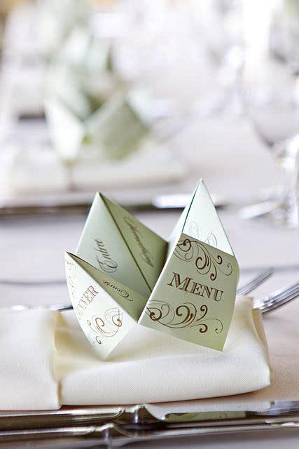 origami restaurant menu inspiration d 233 co un mariage origami