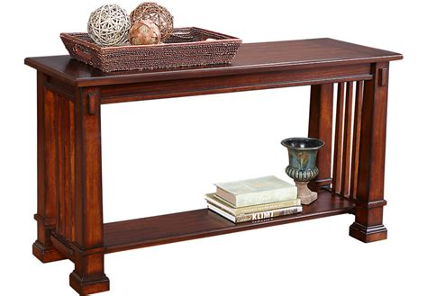 clairfield tobacco sofa table sofa tables wood