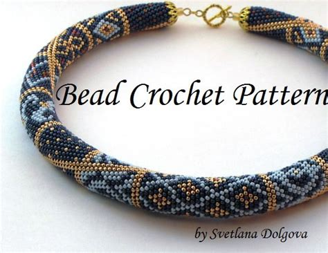 seed bead crochet patterns pattern for bead crochet necklace