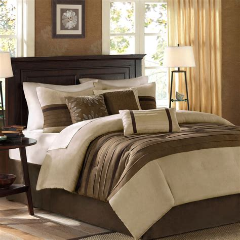 brown comforter set king beautiful modern beige brown soft comforter