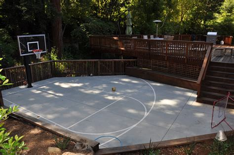 backyard basketball court landscape traditional with