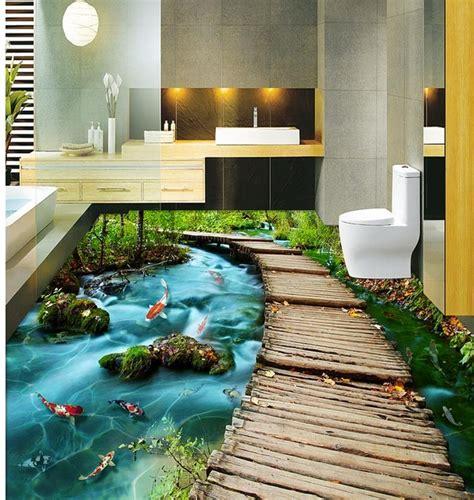 3d bathroom flooring mind blowing 3d flooring tiles ideas for relaxing 3d floor
