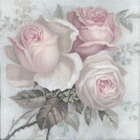 Decoupage Paper Napkins Of Large Pastel Bouquet