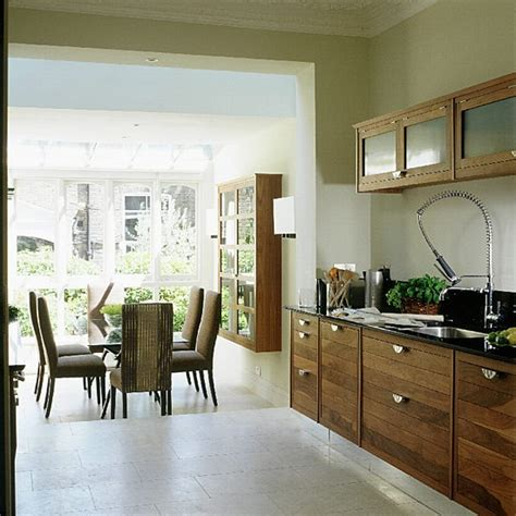 dining room and kitchen ideas walnut kitchen and dining room extension kitchen
