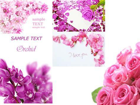 flower templates for card 4 designer flowers card template hd picture