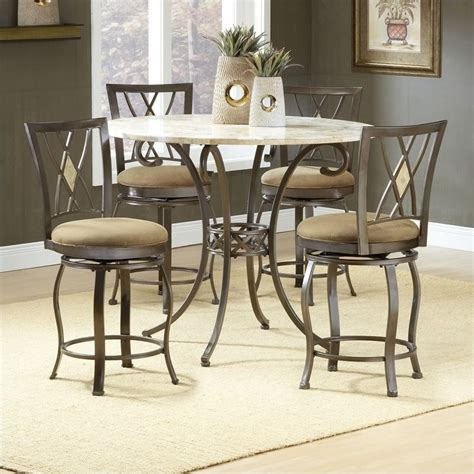 Height Dining Table Set Hillsdale Brookside 5 Counter Height Dining Table Set 4815dtbsgdm