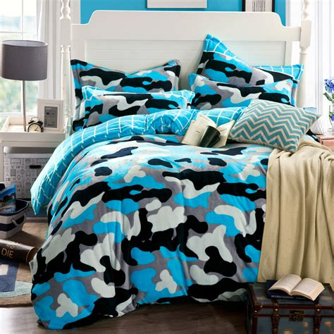 blue camo bedding camouflage duvet cover blue bed sheets funda nordica