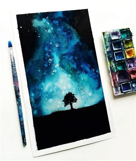 paint nite instagram best 25 watercolor galaxy ideas on galaxy