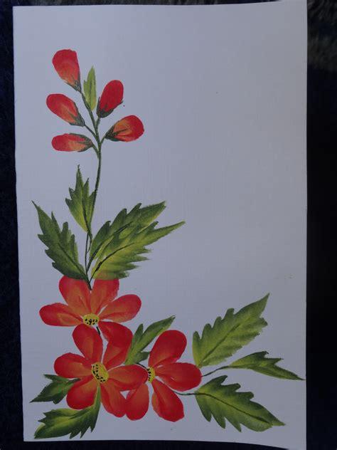 one stroke flowers painting flowers