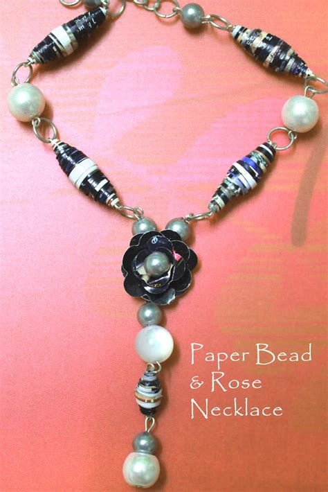 how to make jewelry with paper paper bead necklace diy jewels of sayuri