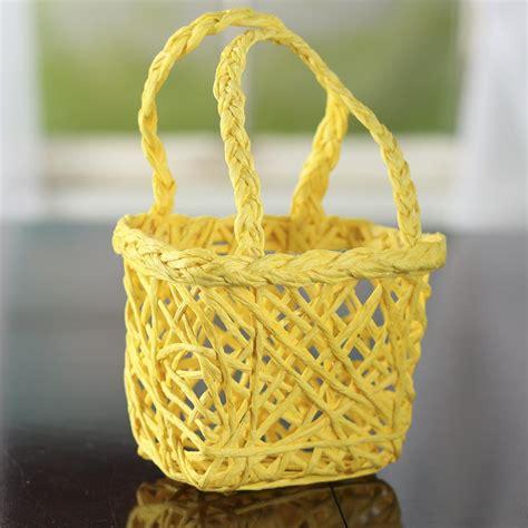 craft paper basket yellow paper twist basket baskets floral supplies