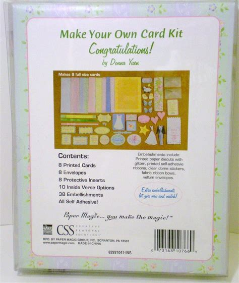 Make Your Own Card Kit Congratulations By Donna Yuen
