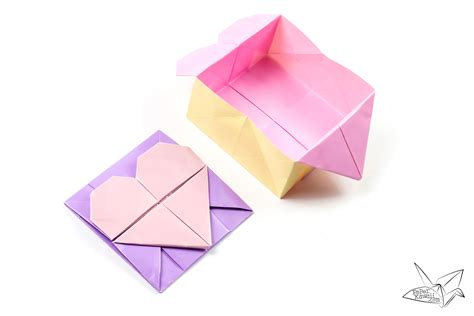 origami with origami opening box envelope tutorial paper kawaii